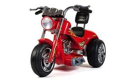 BIG TOYS DIRECT Kids 12V Two Speed Red Hawk Motorcycle in Re