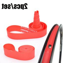 Red Rim Liner Top Bicycle Tire Liner  Anti Puncture Tape Pad