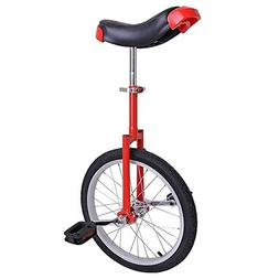 Pro Red 18-inch Wheel Rim Unicycle w/ Comfy Saddle Seat Stee