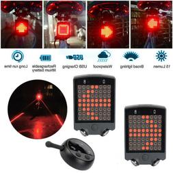 Remote Control Wireless Bike Bicycle Laser LED Tail Lamp Tur