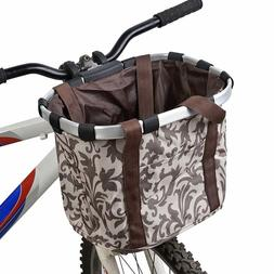 Removable Bicycle Basket Pets Cat Seat Dog Front Bike Basket