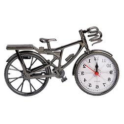 SimpleLif Retro Vintage Plastic Bicycle Bike Clock Home Deco