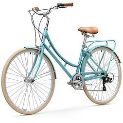 sixthreezero Ride in Park Women's 7-Speed City Bicycle 17-In