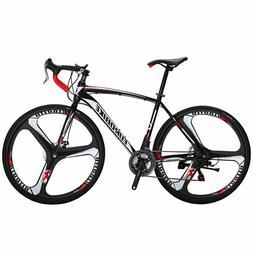 Road Bike 21 Speed 54cm 700C 3-Spoke Wheels Mens Bicycle Dua