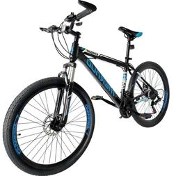 """Mountain Bike 26"""" Front Suspension Bicycle 21 Speed MTB Mens"""