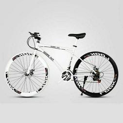 Road Bike 26 Inch Speed Fixed Gear Double Disc Brake Adult S