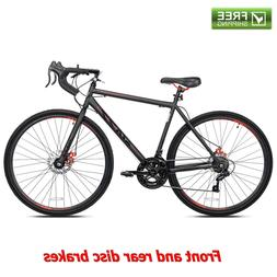 Kent Road Bike Black Steel Bicycle 700C 14 Speed Shimano Dis