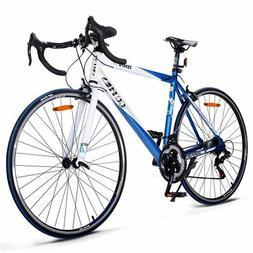 Goplus Road Bike Commuter Bike Shimano 700C Aluminum 21 Spee