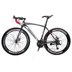EUROBIKE Road Bike EURXC550 27 Speed 700C 49Cm Road Bike Fra