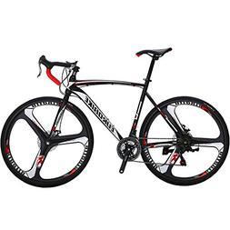 EUROBIKE Road Bike EURXC550 21 Speed 54 cm Frame 700C 3-Spok
