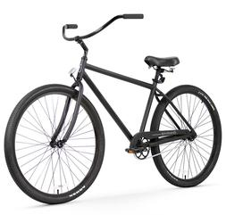 Firmstrong Black Rock Men's Single Speed Beach Cruiser Bicyc