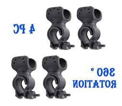 4PC LyonsBlue 360 Degree Rotation Flashlight Mount Holder Bi