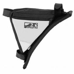 M-Wave Bicycle Cycling Frame Bag, Black/White