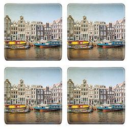 Luxlady Natural Rubber Square Coasters IMAGE ID: 34370338 Vi