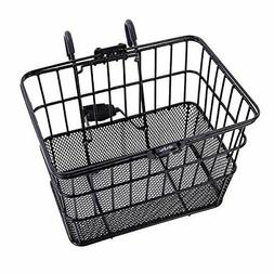 Rust-Proof Quick Release Wire Front Handlebar Bicycle Basket