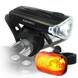 Lumintrail LED Safety Bike Light Set Headlight Taillight w/