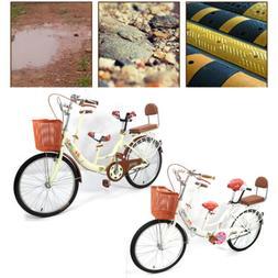 22'' Bike Tandem Bikes Bicycle 2Seater Bike Kids Baby mother