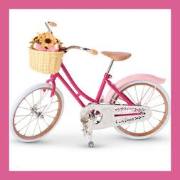 American Girl SAMANTHA'S PINK BIKE WITH FLOWER BASKET NIB bicycle for Samantha