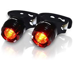 Stupidbright SBR-1 Strap-On LED Rear Bike Tail Light  two li