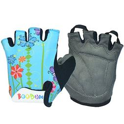 BOODUN Kids Semi Finger Gloves Cycling with Shock-absorbing