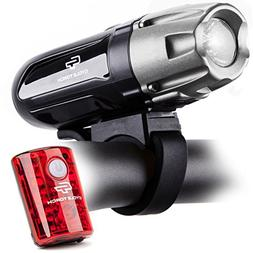 Shark 550R USB Rechargeable Bike Light Set- Bicycle LED Head