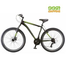 Schwinn Sidewinder Men's Mountain Bike Matte Black/Green 26'