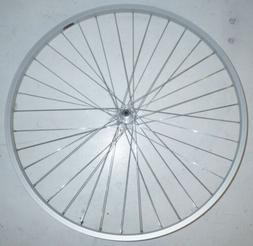 "SILVER 26/"" ALUMINUM FRONT BIKE BICYCLE RIM//HUB RMRT103"