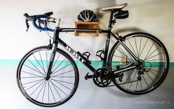 Road Bike Wall Mount Simplistic Mahogany Wood Bike RackBike Shelf