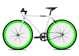 Golden Cycles Single Speed Fixed Gear Bike with Front & Rear