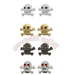 Fenix Cycles Skull /& Bones Valve Caps Gold