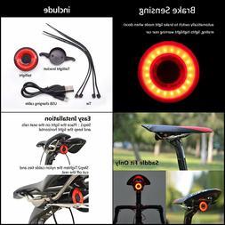 Nkomax Smart Bike Tail Light Ultra Bright, Bike Light Rechar