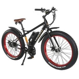 "ONWAY 26"" 750w Fat Tire All Terrain Using Electric Bicycle,"