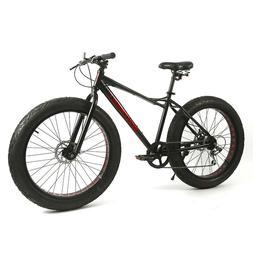 """Micargi Seattle 7 Speed 29/""""x 3.0 Front /& 26/""""x 3.0 Rear Fat Tire Bike Matte Black"""