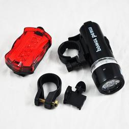 SODIAL Waterproof 5 LED Bike Bicycle Head + Rear Light 6 Mod