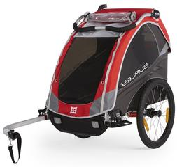 Burley Design Solo Kids Bike Trailer, Red