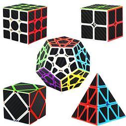 Dreampark Speed Cube Bundle  2x2 3x3 Pyraminx Megaminx Skewb