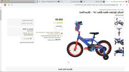 Huffy Spider-Man Cruiser Bike 14 inch - Blue/Red