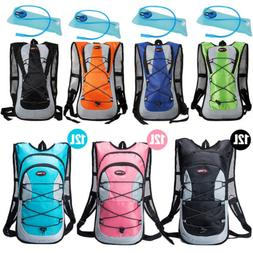 Sport 12L/5L Bike Bicycle Hydration Pack Backpack + 2L Water