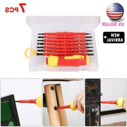 7PCS Electrican'S Insulated Electric Hand Screwdriver Tool F