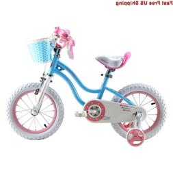 RoyalBaby Stargirl Girls Bike, Easy Assembly Kids Training W