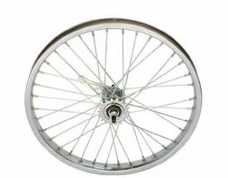 "20"" x 2.125"" Steel Coaster Wheel 12G Chrome. Bicycle wheel,"