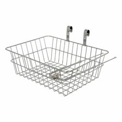 Tuesday Steel Front Bicycle Delivery Basket Chrome with Moun