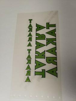 Sticker Decal Set for Vintage Takara BMX Bicycle-Green