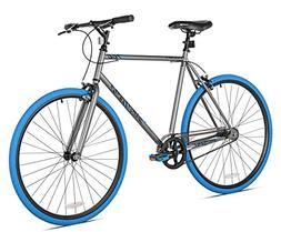 New Takara Sugiyama Flat Bar Fixie Bike 700c Gray/Blue Large