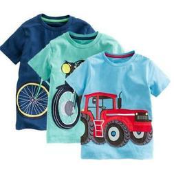 Summer Baby Boys T Shirt Cotton Short Sleeve T Shirt Tops Te