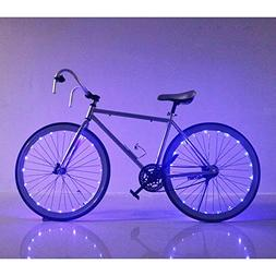 Soondar Super Bright 20-LED Bicycle Bike Rim Lights, Blue