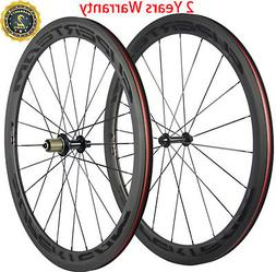 Superteam Road Bike Wheels 50mm Carbon Fiber Wheelset Clinch