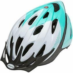 Schwinn Thrasher Adult Microshell Bicycle Helmet, White/Teal
