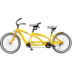 "26"" Tandem Bike, Yellow, Hi-ten frame, oversized fork, conve"