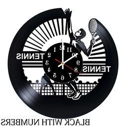 Tennis Vinyl Wall Clock - Get unique living room wall decor